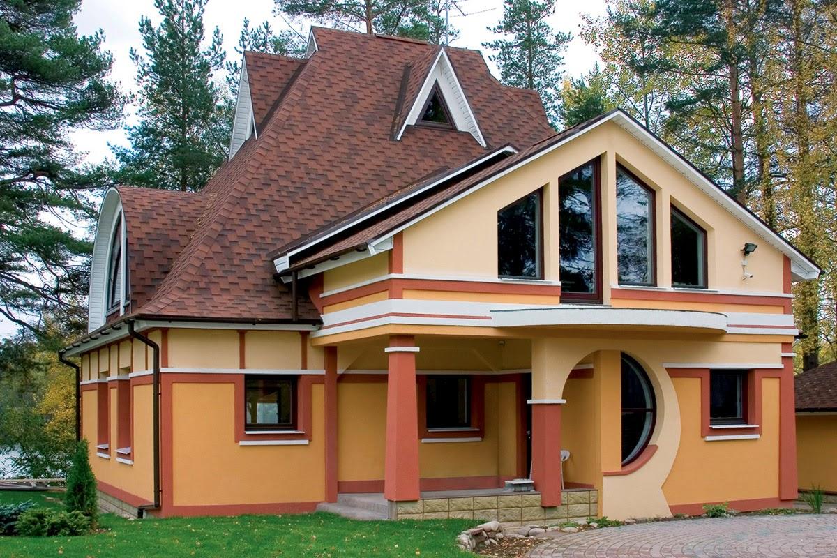 Оригинальный дизайн мансардной крыши дома