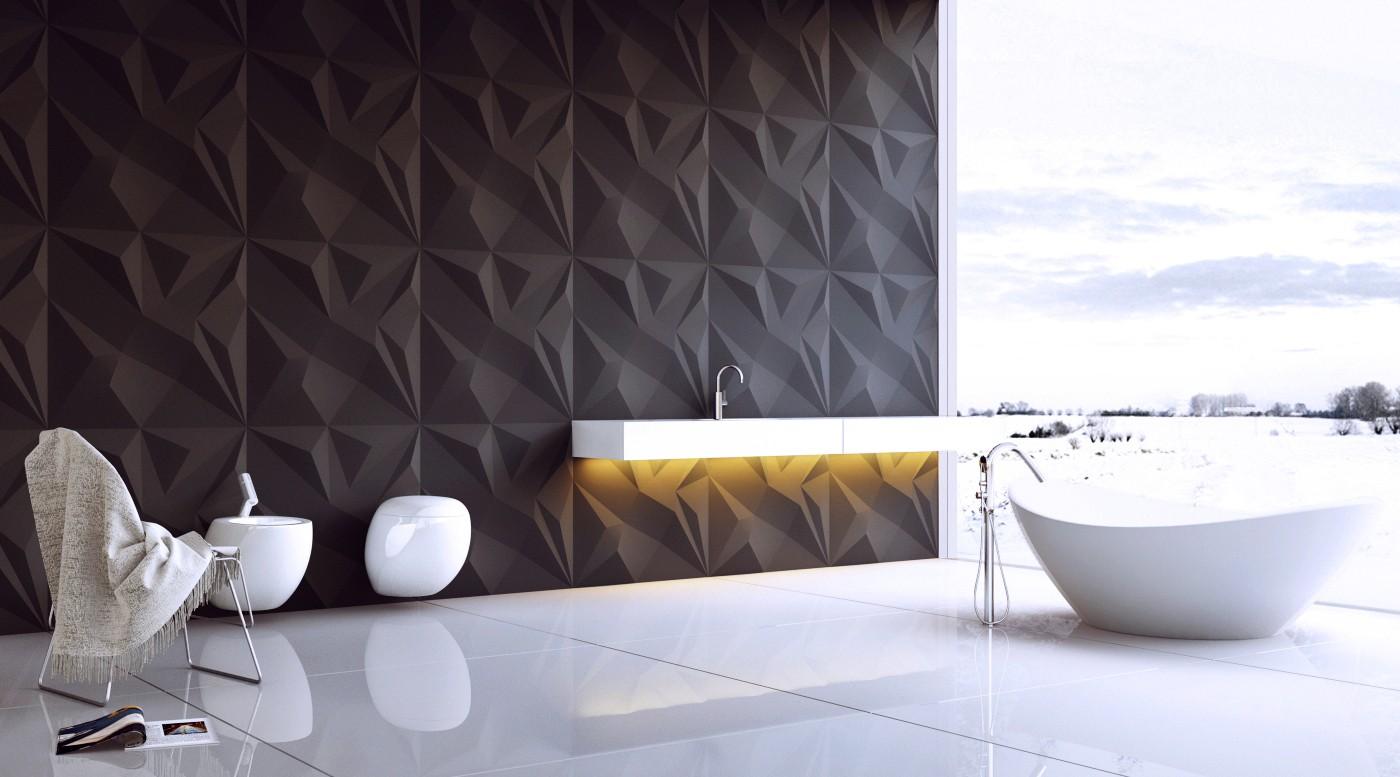 Гипсовые панели в ванной