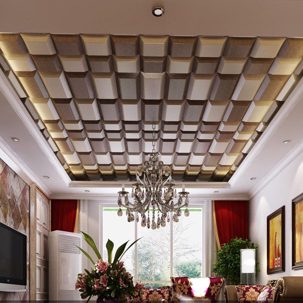 Потолок из 3d-панелей