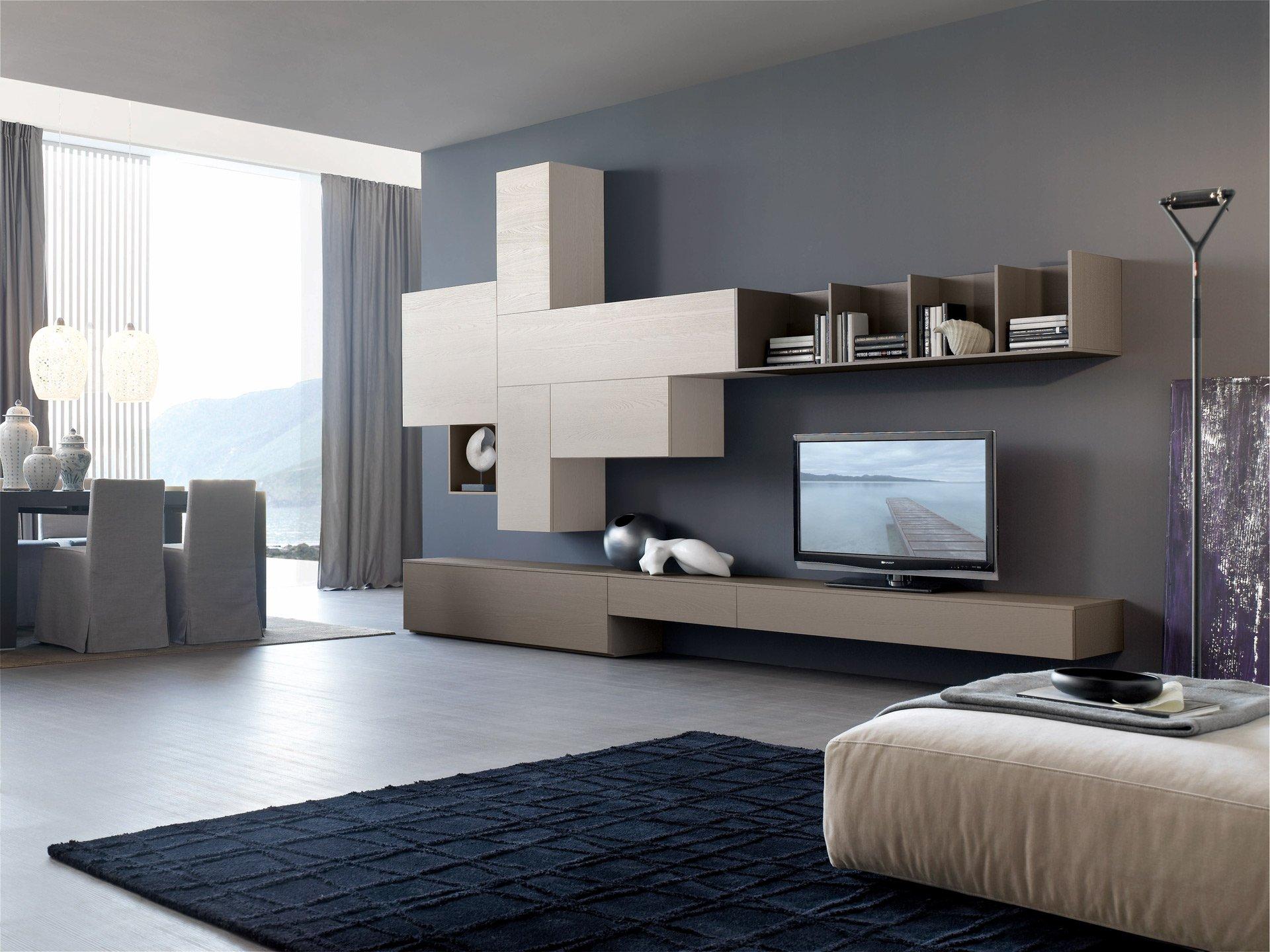 Гостиная в конструктивистском стиле с панорамным окном