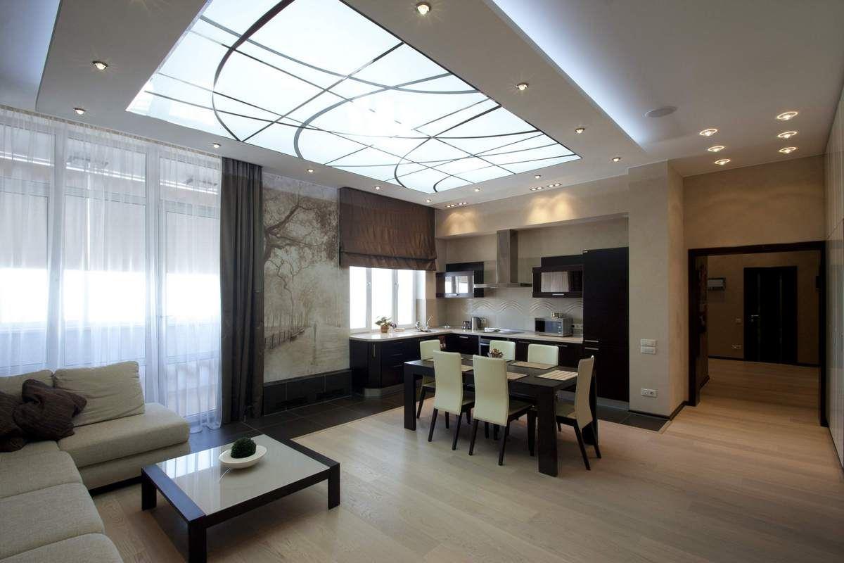 Пленочный витражный потолок
