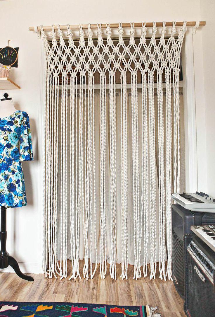 Плетеные межкомнатные шторы