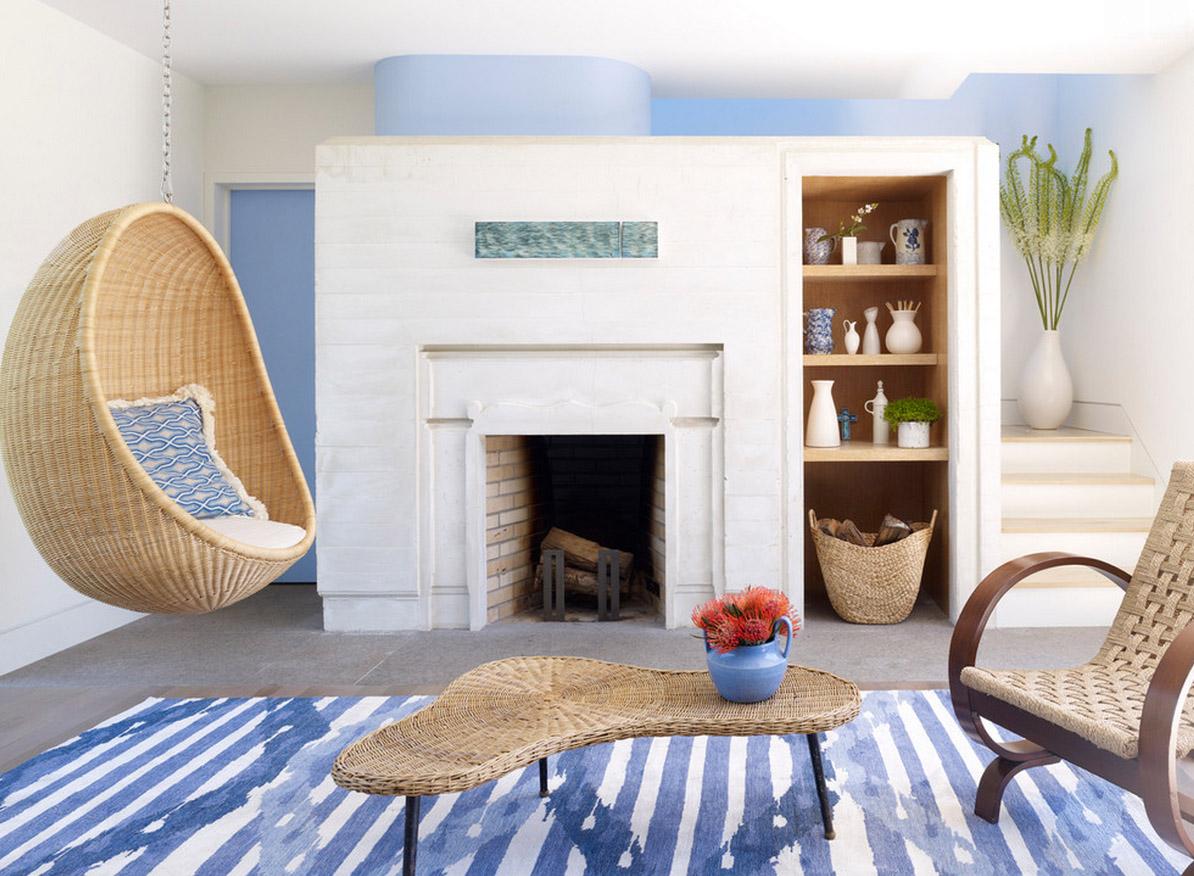 Плетеное кресло-шар
