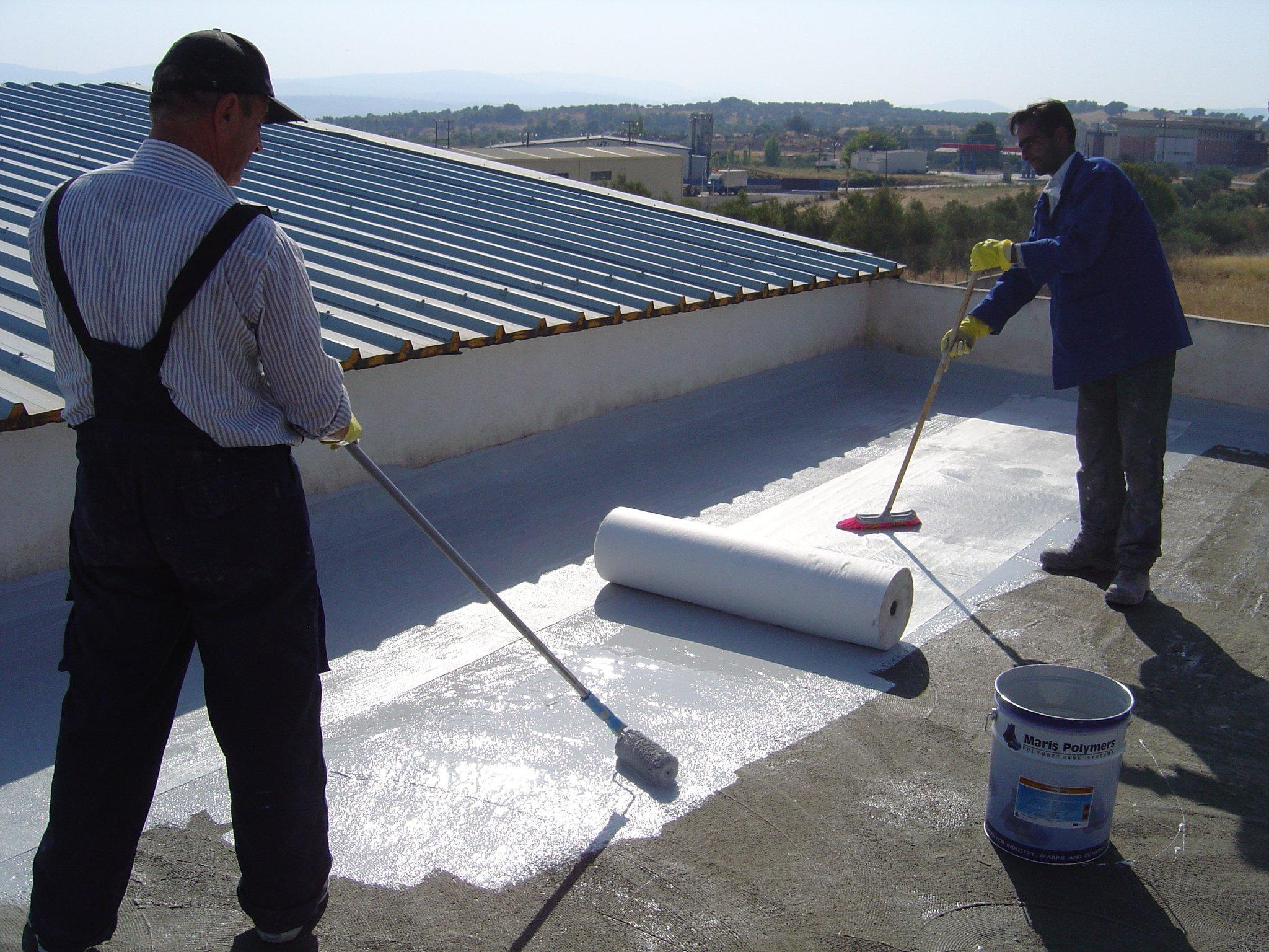 Монтаж ветрозащитной мембраны на плоскую крышу