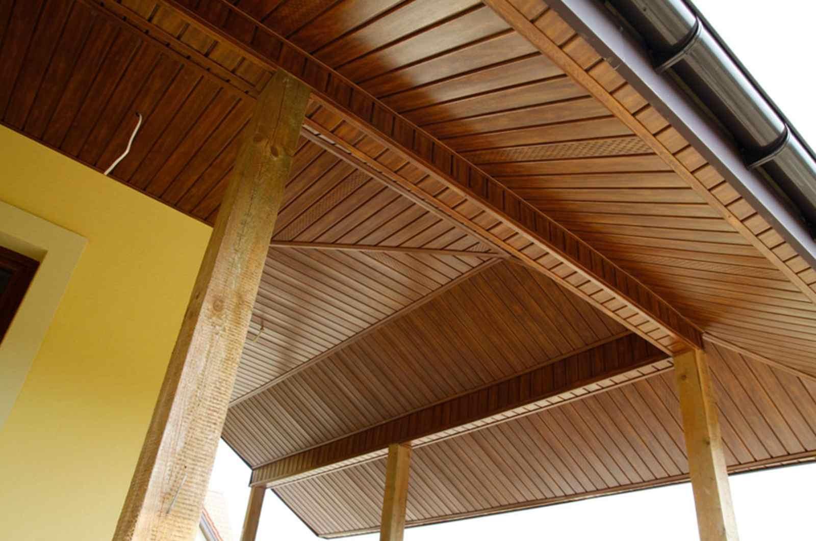 Софиты под дерево для крыши
