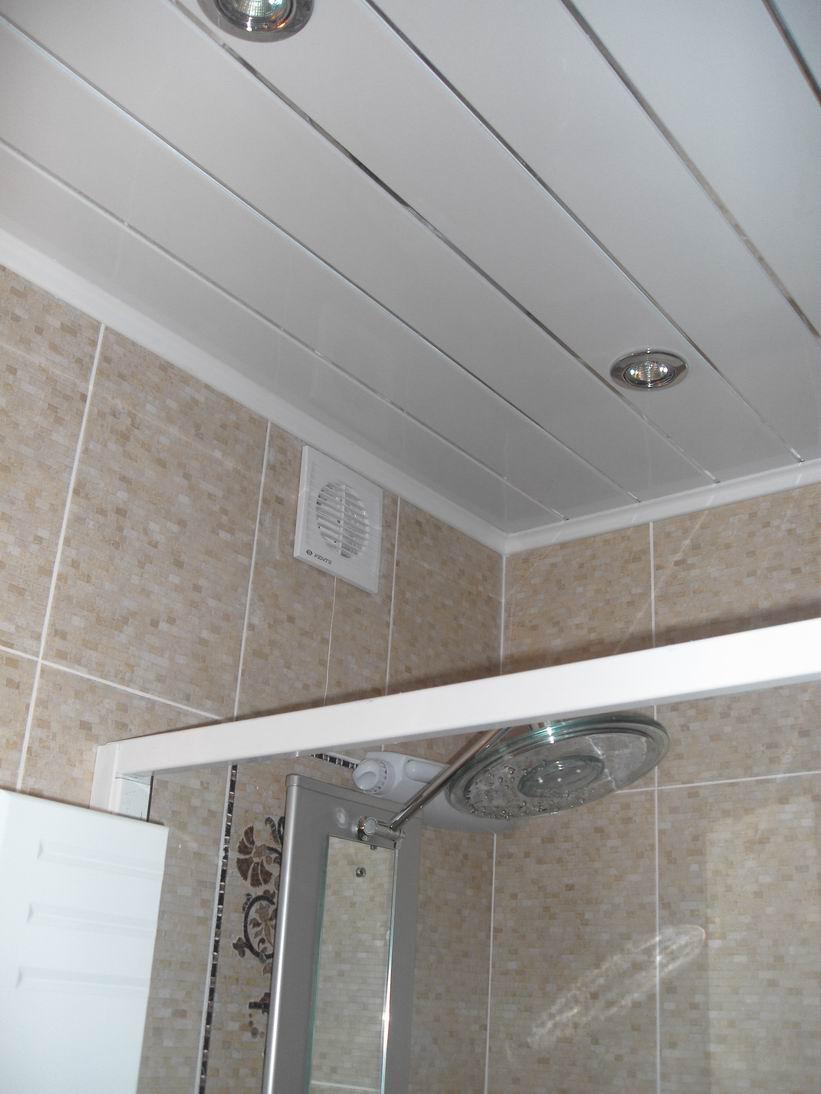 Вытяжка в ванной под потолком