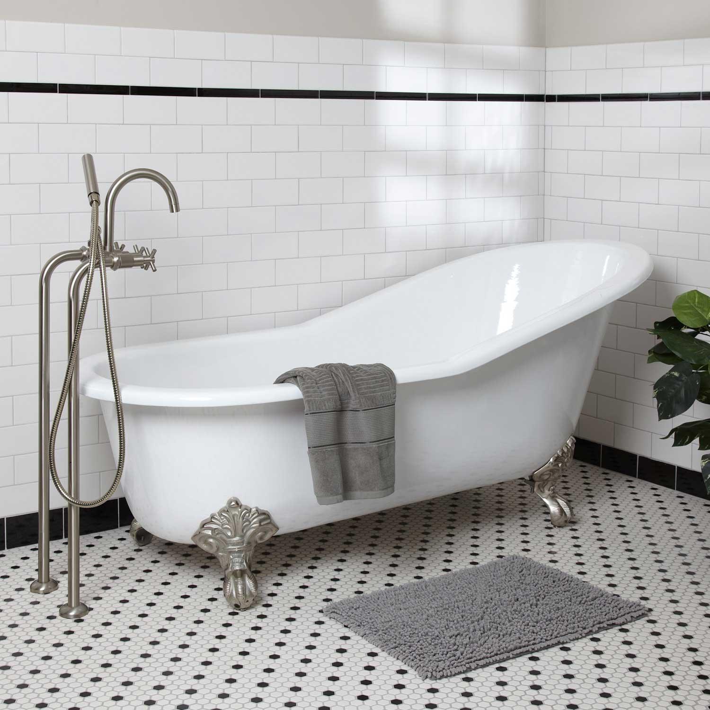 Чугунная ванна с подголовником