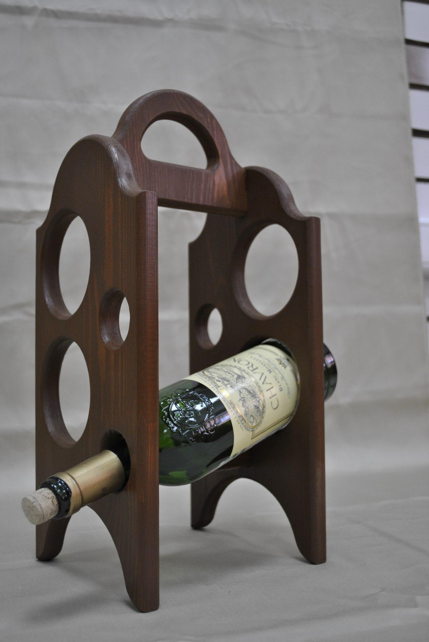 Подставка под вино из дерева