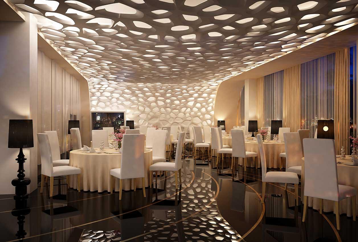 3d-потолок с подсветкой