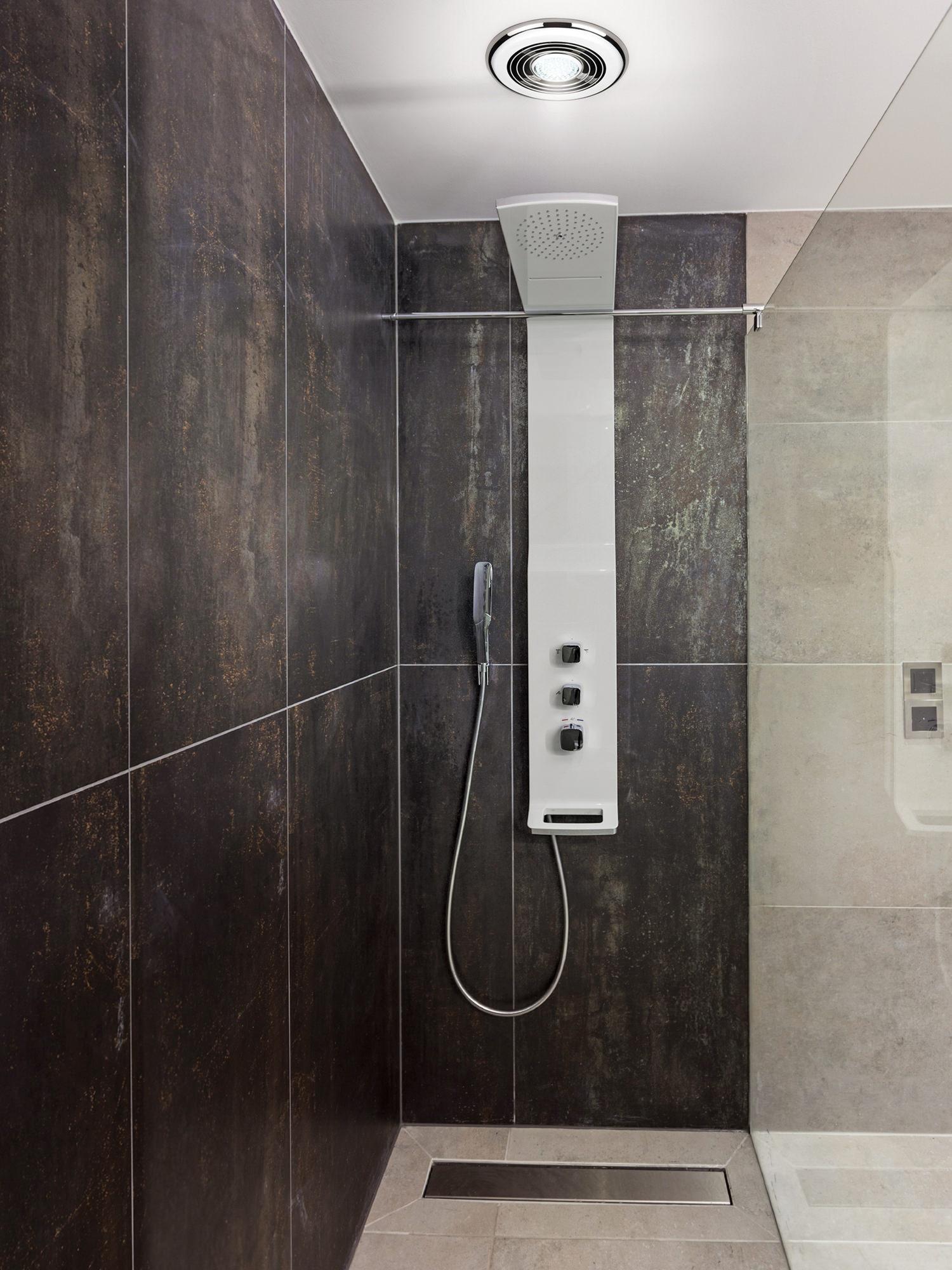 Вытяжка в ванной с подсветкой