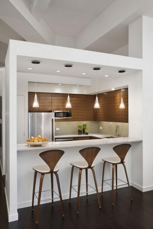 Подсветка барной стойки на кухне