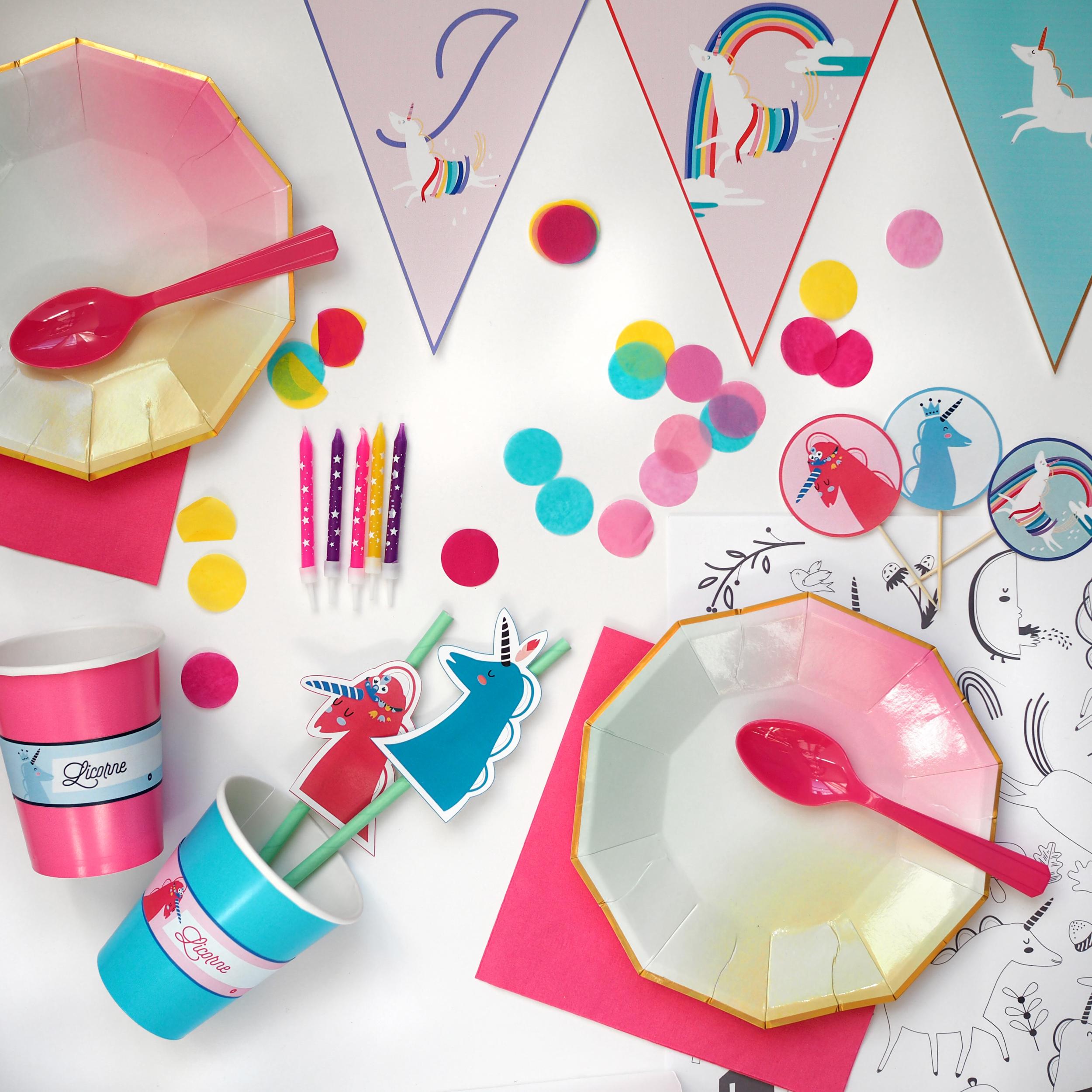 Украшение детского праздничного стола посудой