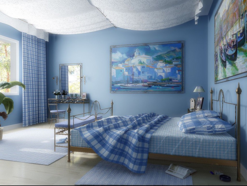 Ткань на потолке