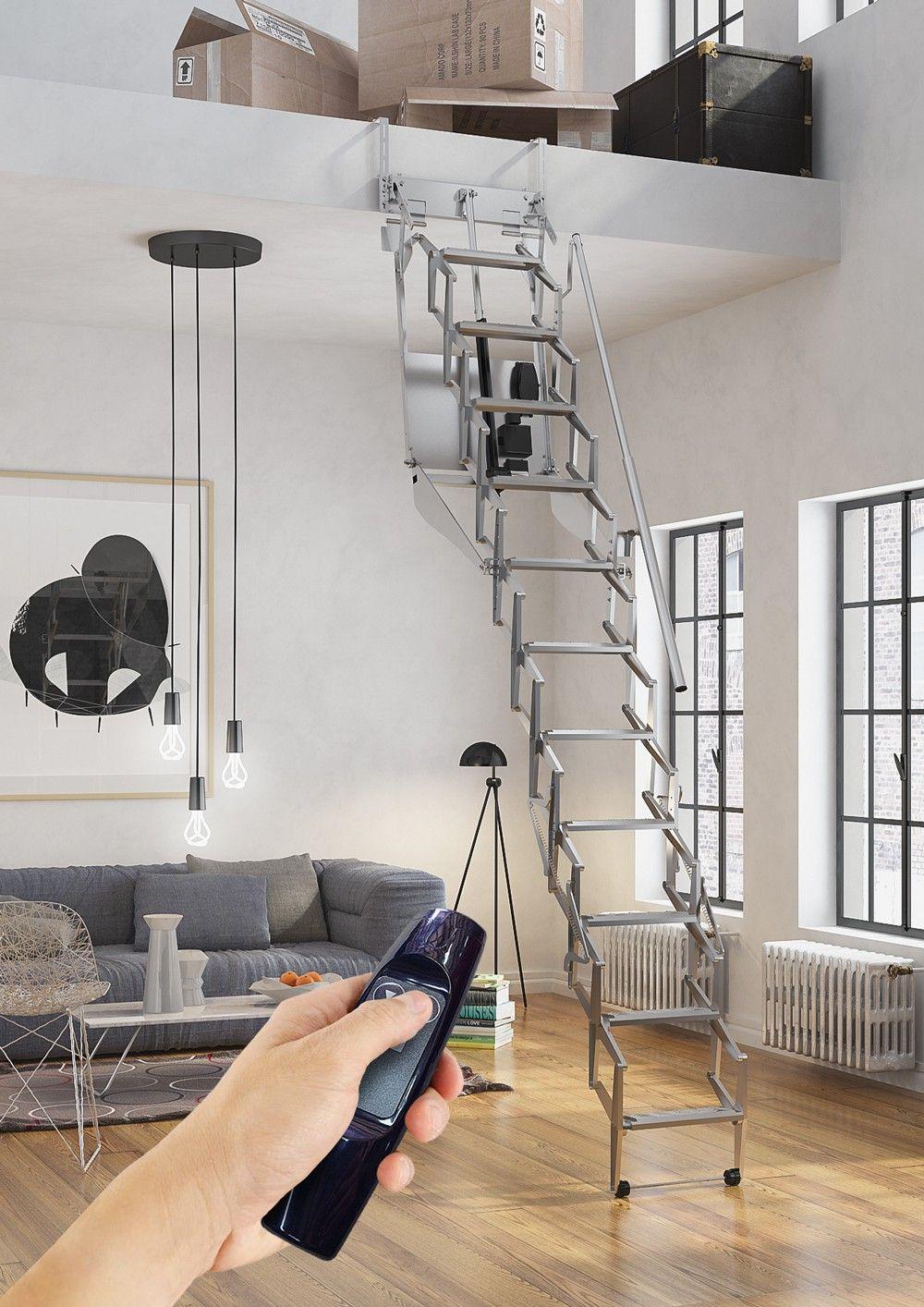 Приставная лестница на чердак