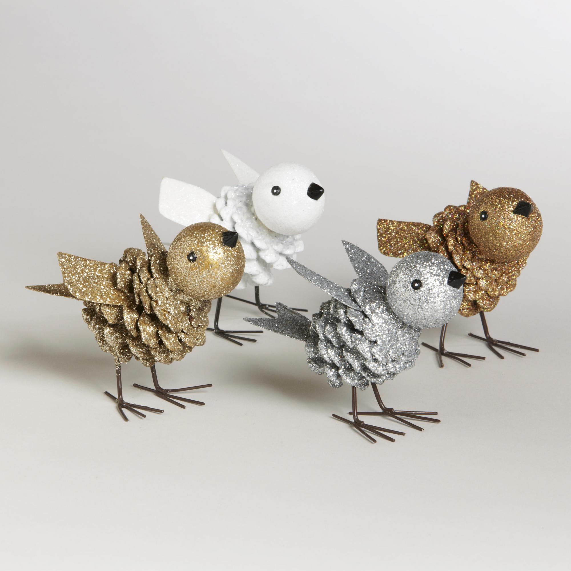 Птицы из шишек