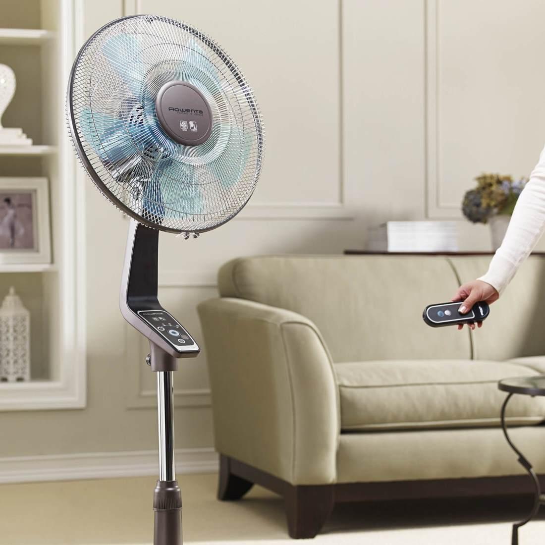 Напольный вентилятор на дистанционном управлении
