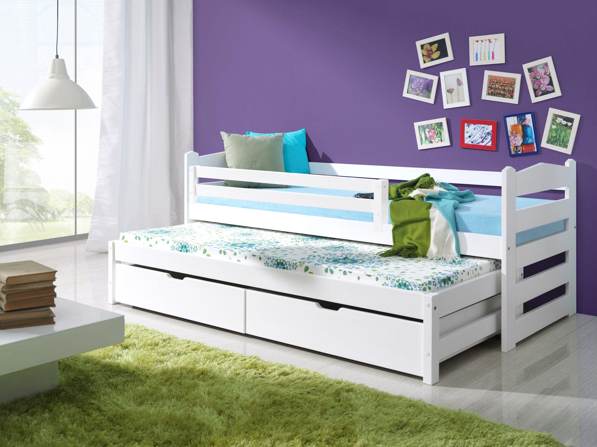 Детская раздвижная кровать с бортиками