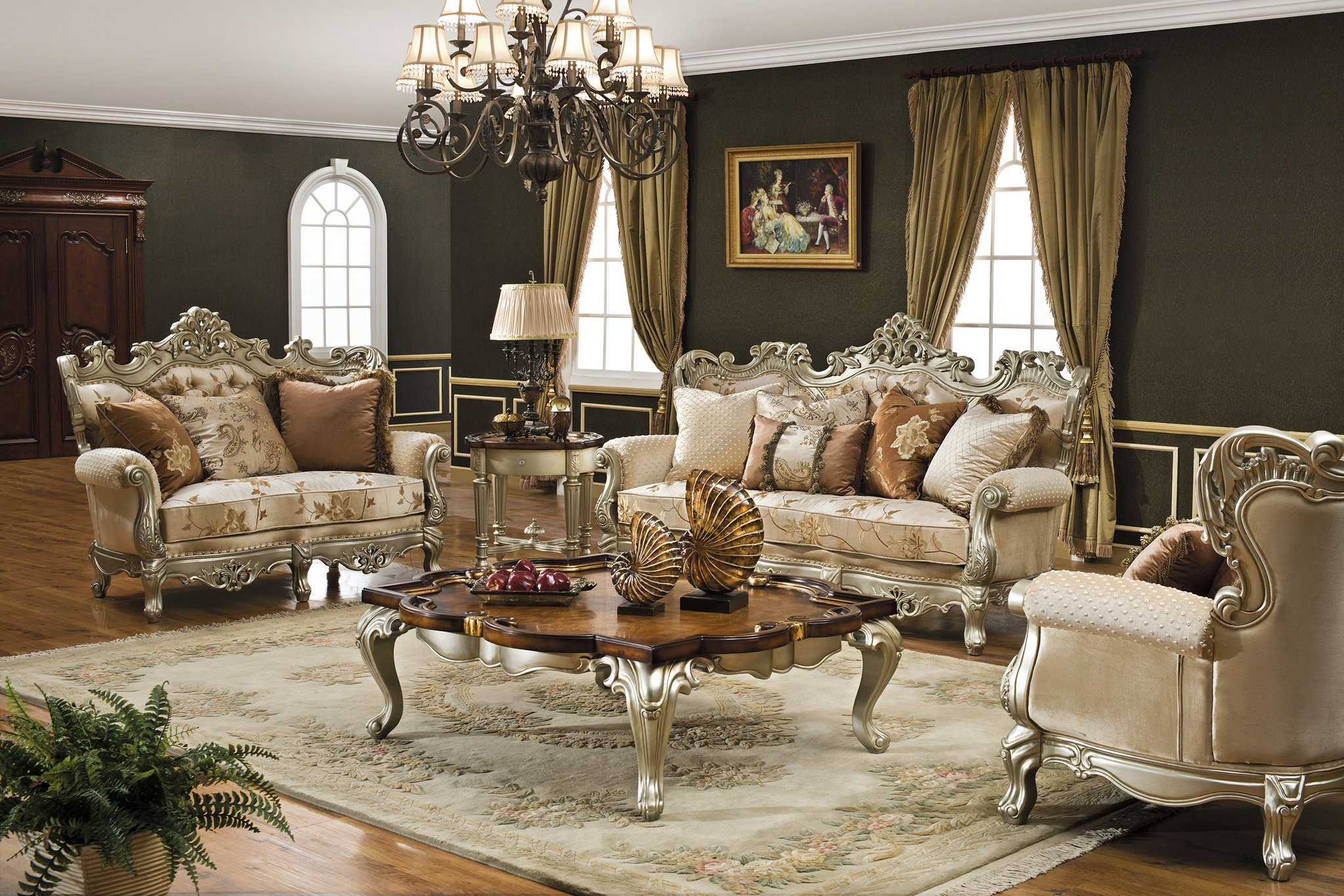 Резная мебель в стиле рококо
