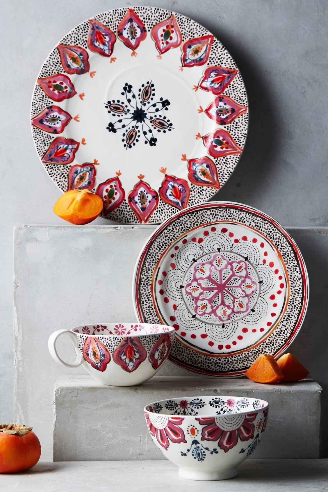 Фарфоровая посуда с росписью