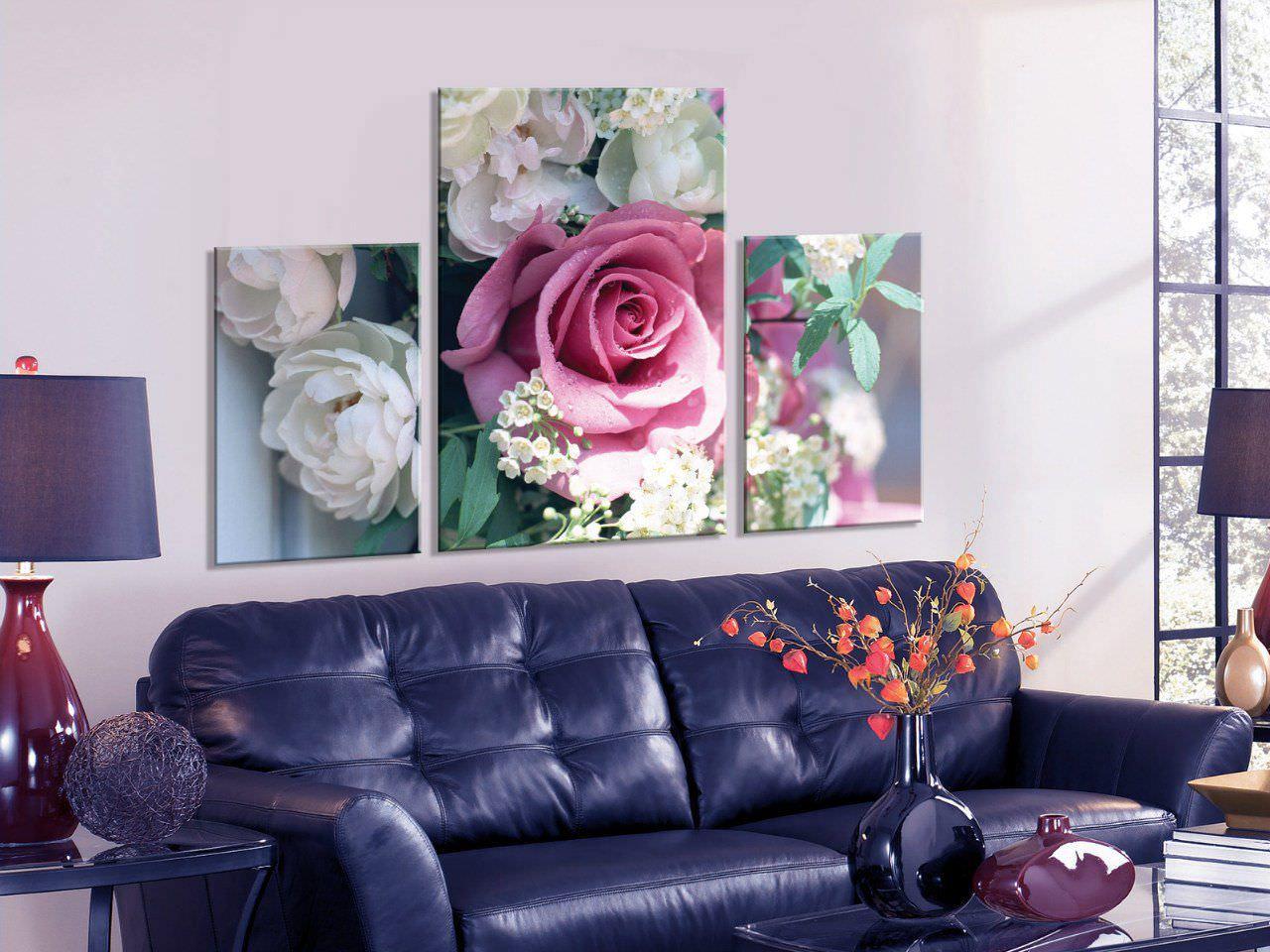 Панорамная картина с розой