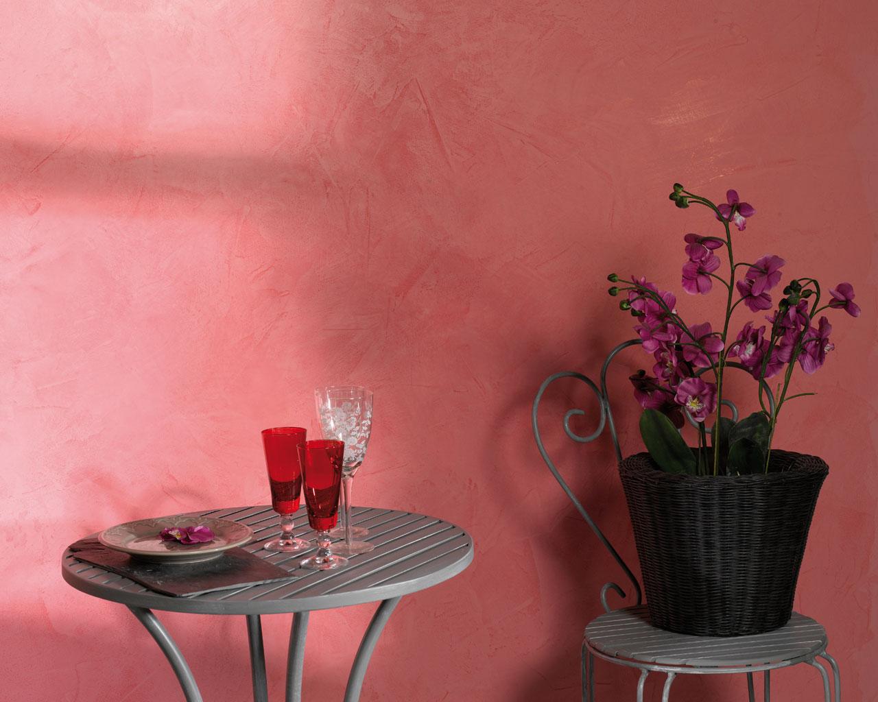 Акриловая штукатурка розового цвета
