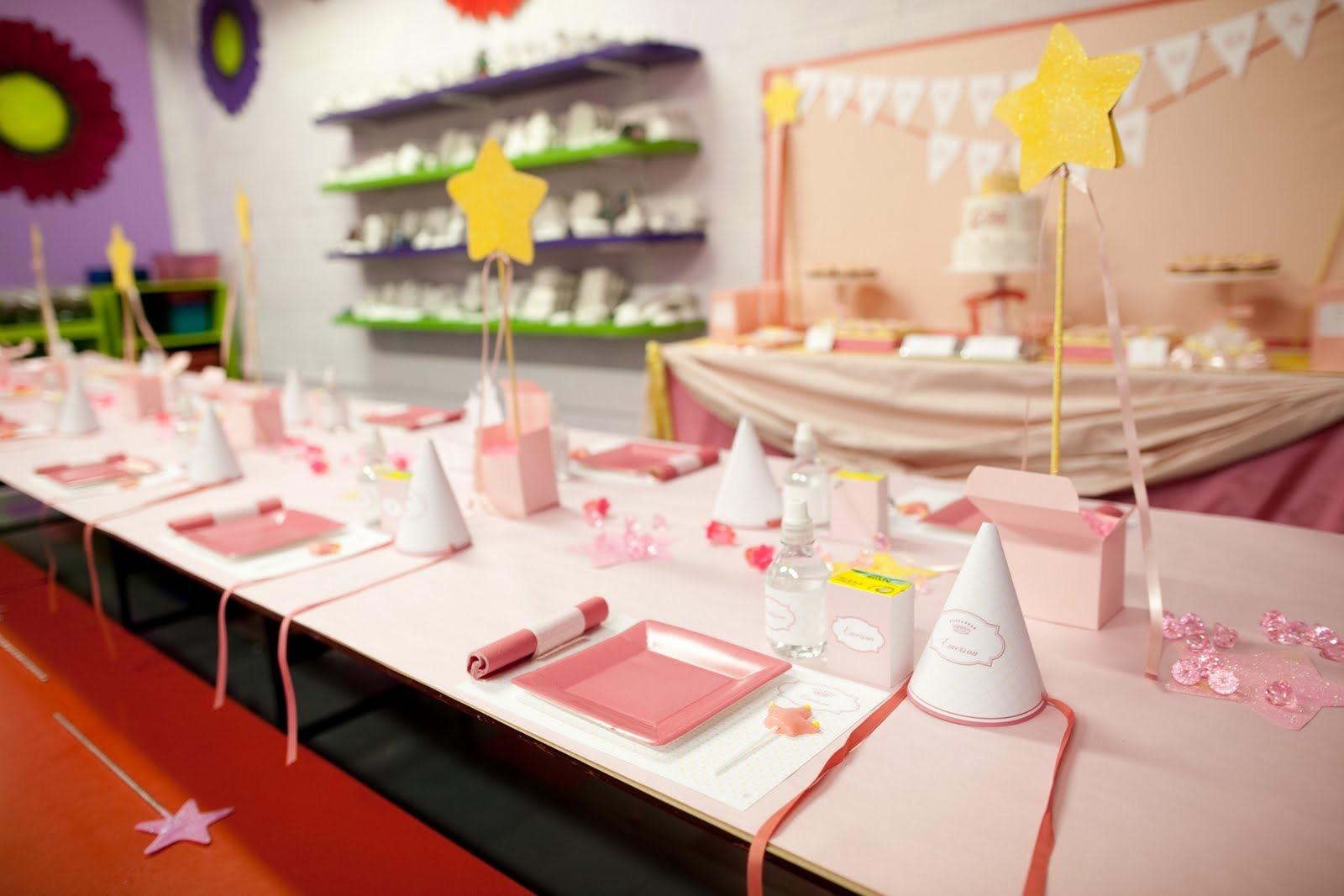 Оформление детского праздника в розовом цвете