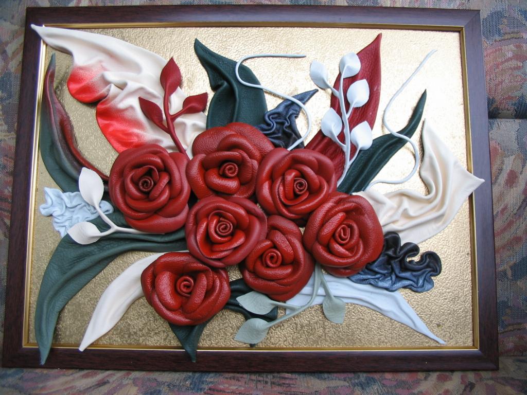 Объемная картина с розами