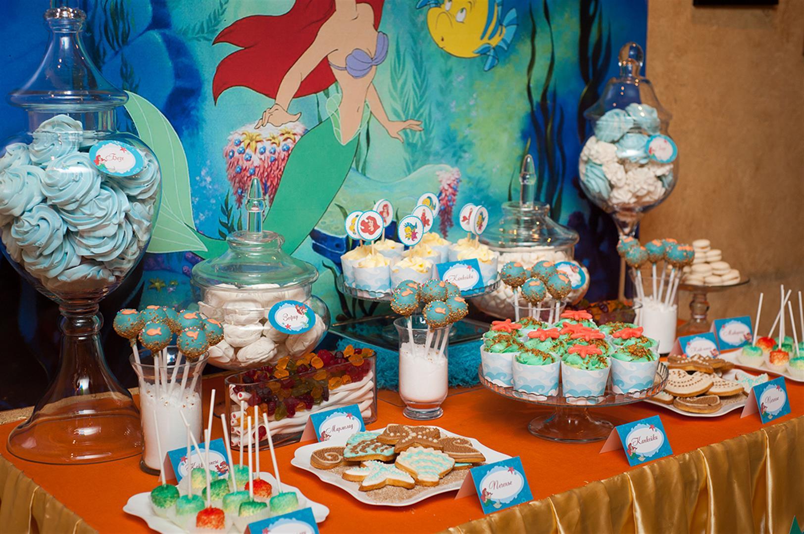 Оформление детского праздника в тематике Русалочки