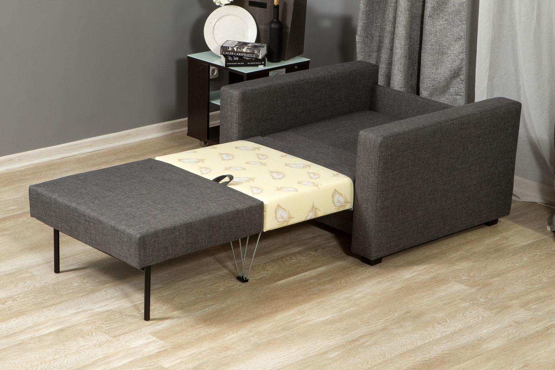 Серое кресло-кровать