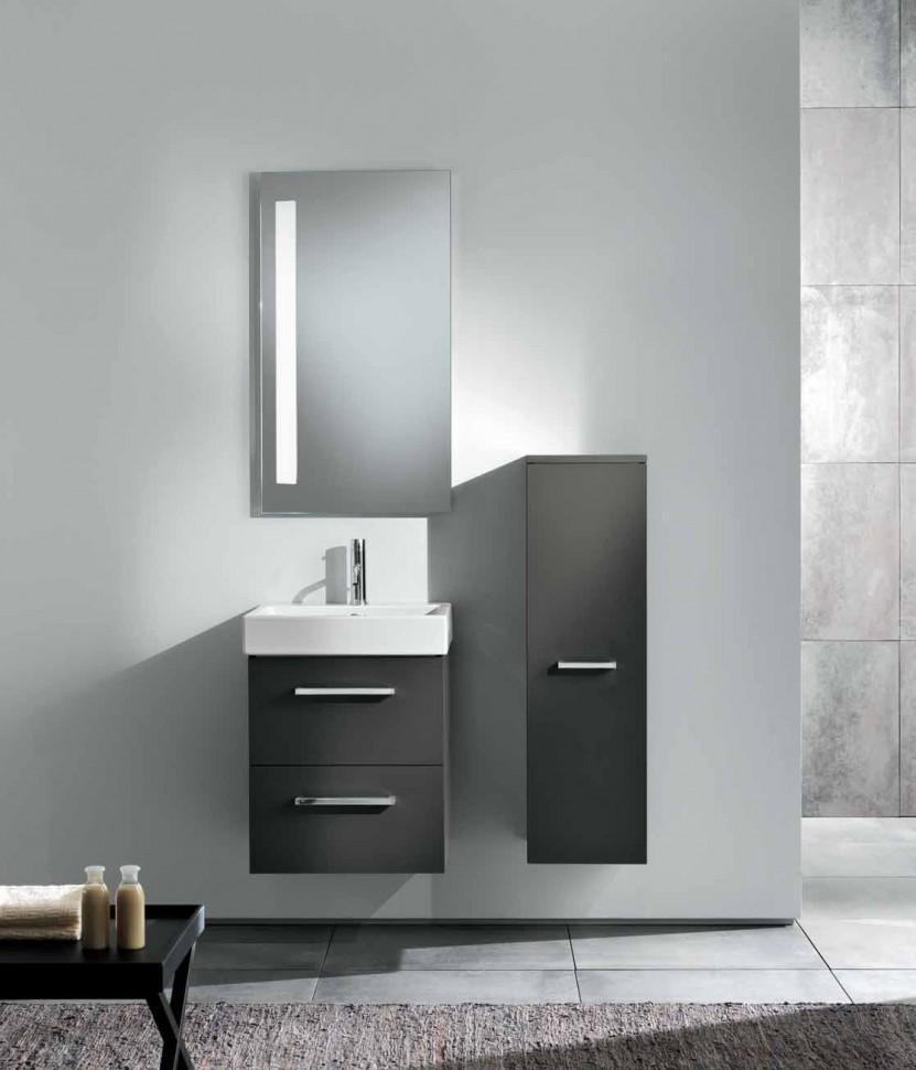 Серый пенал для ванной