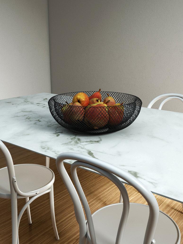 Ваза для фруктов из металлической сетки