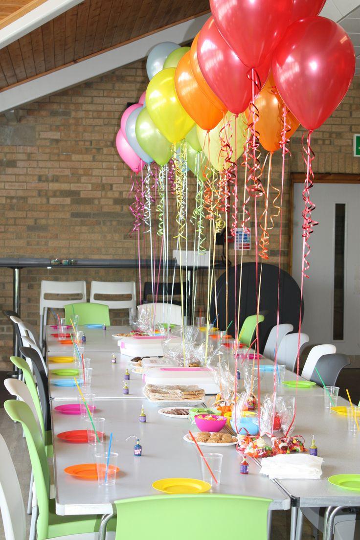 Украшение детского праздничного стола шариками