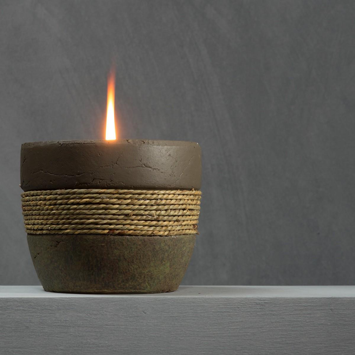 Декор свечи шпагатом