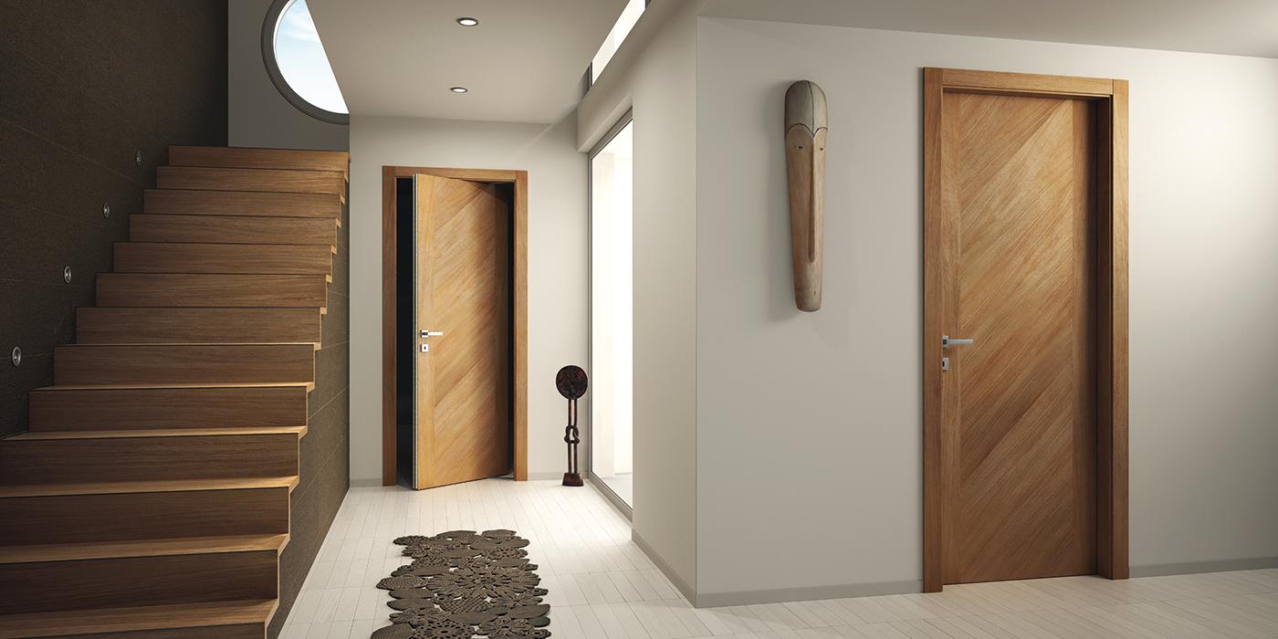 Шпонированная дверь CPL