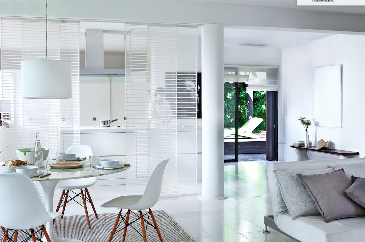 Перегородка со шторами между кухней и гостиной