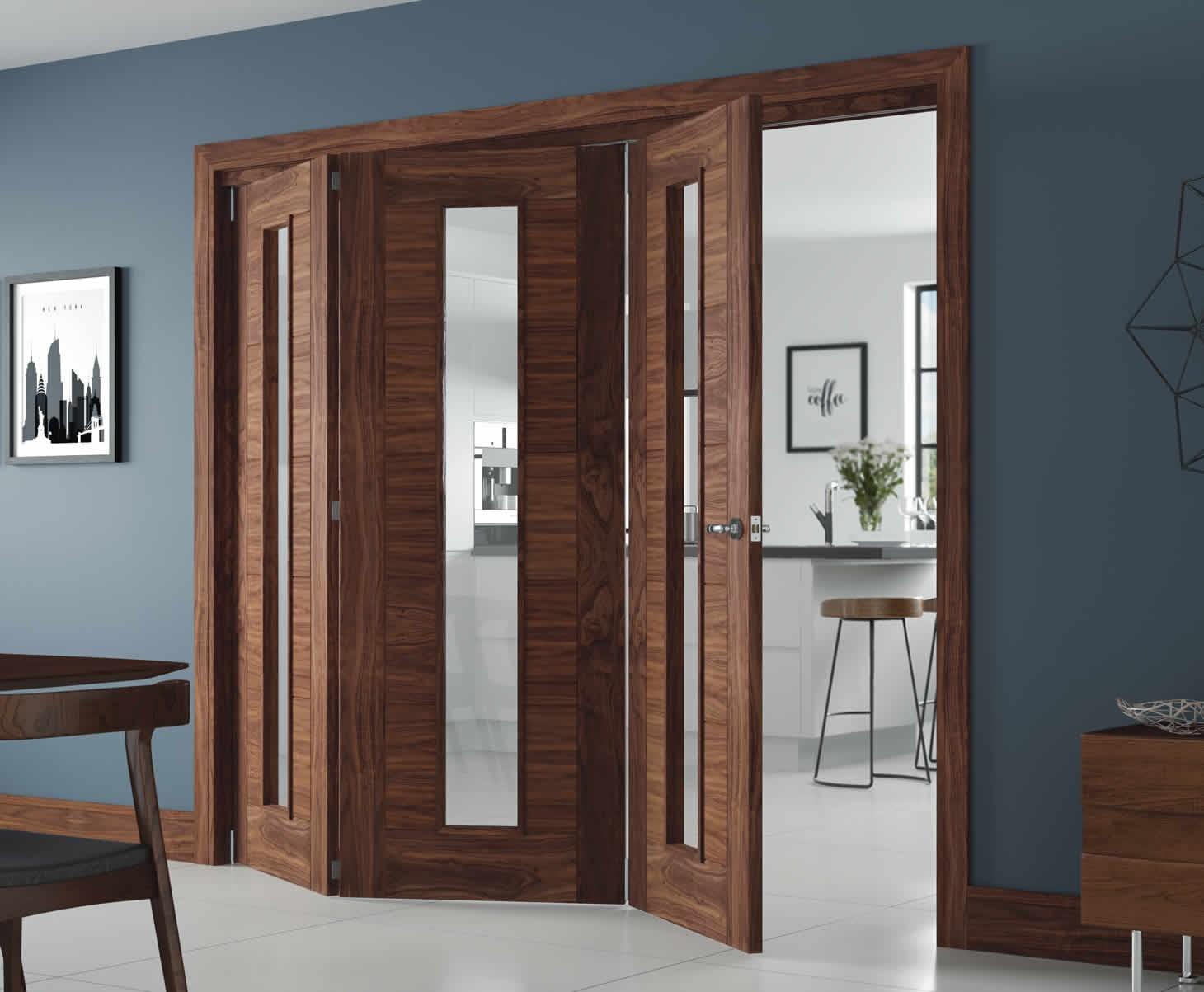 Складная дверь из палисандра