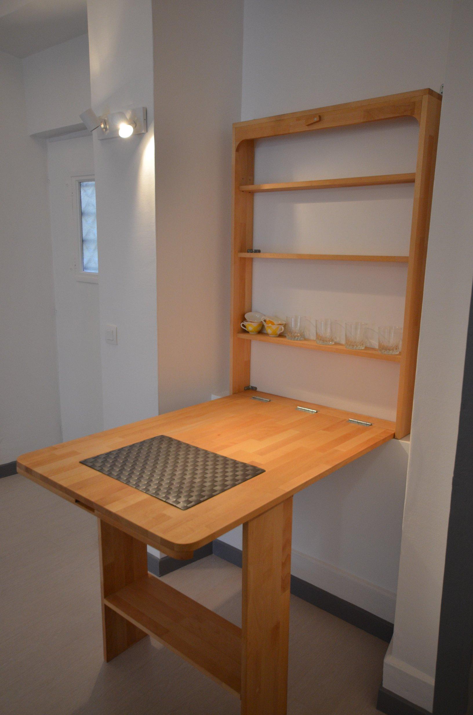 Откидной стол из сосны