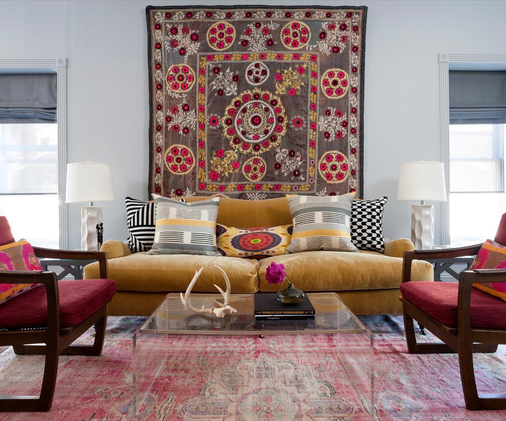 Состаренный килим в интерьере