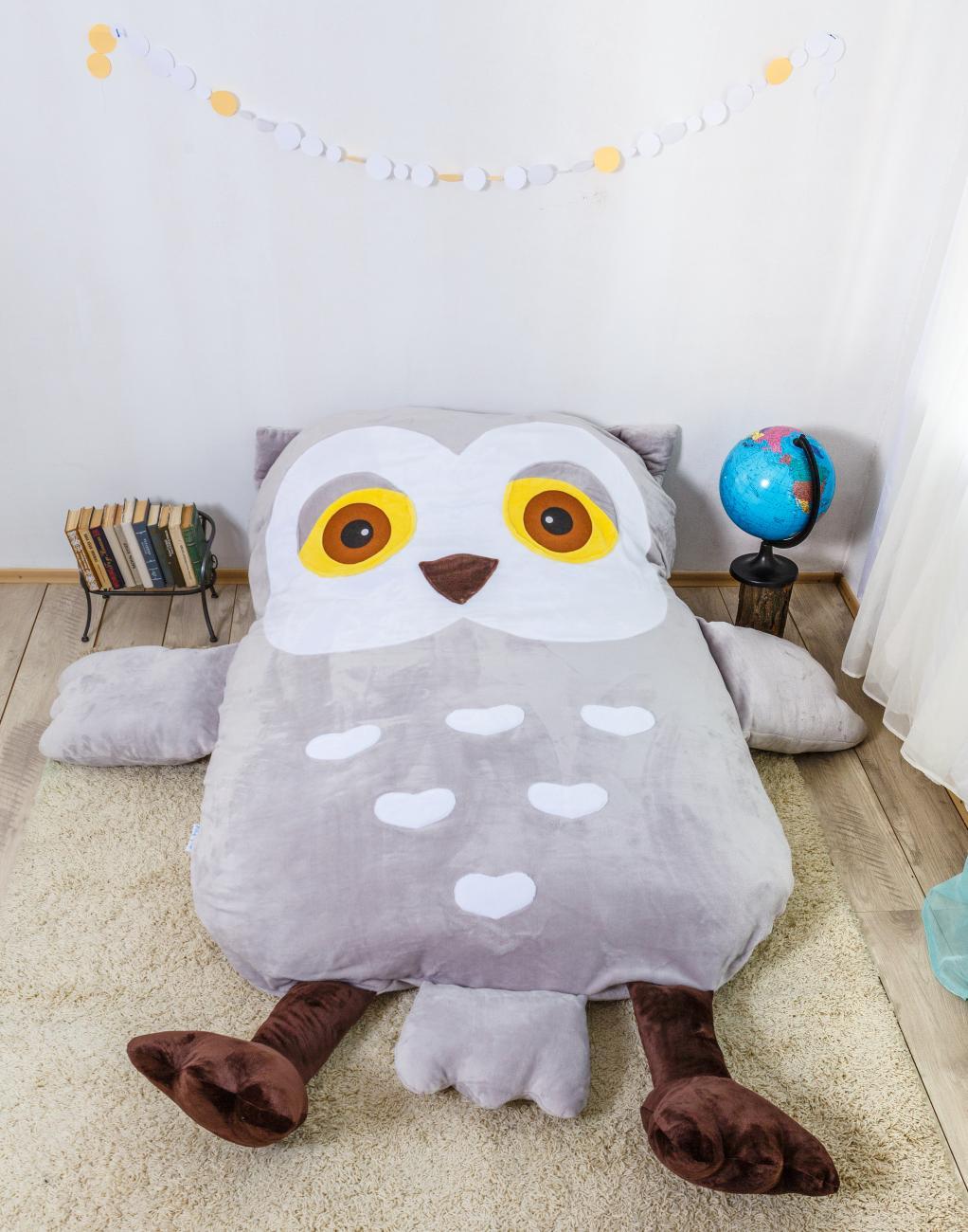 """Детская кровать-подушка """"сова"""""""