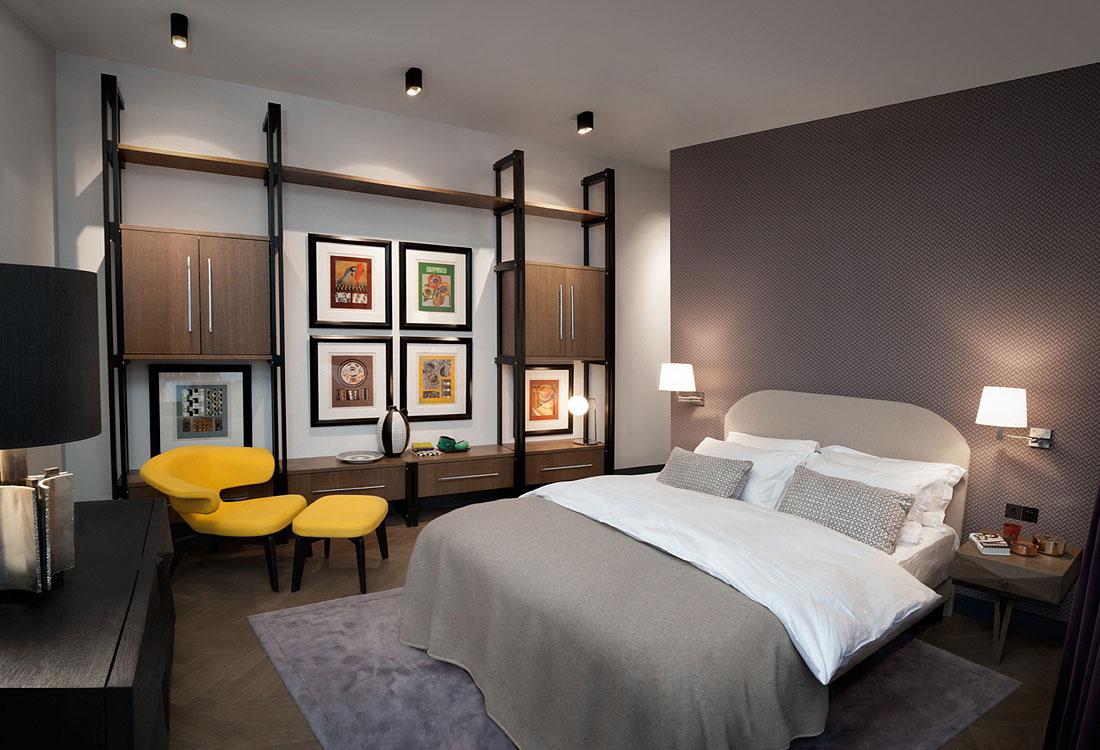 Конструктивизм в интерьере спальни