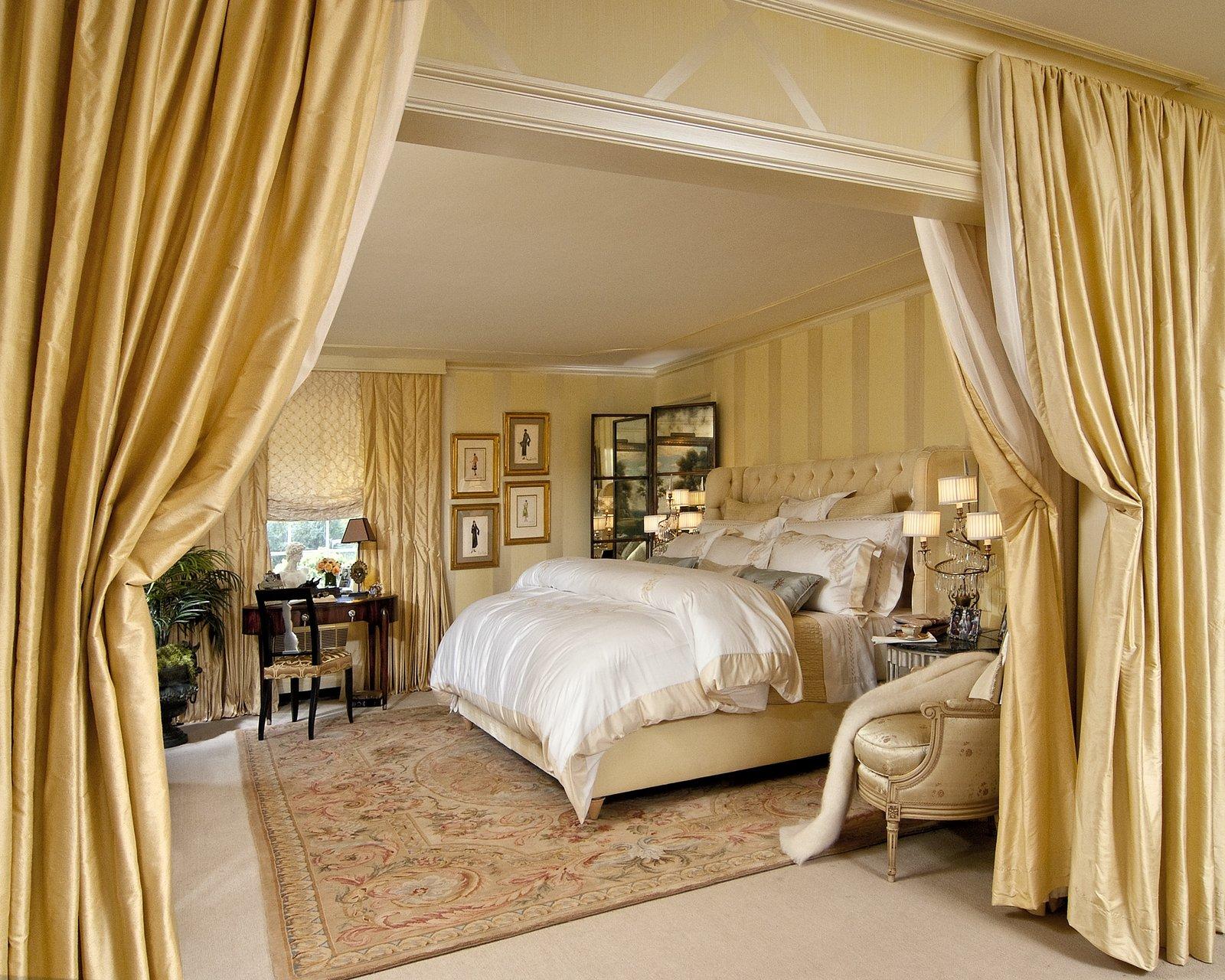 Межкомнатные шторы в спальне