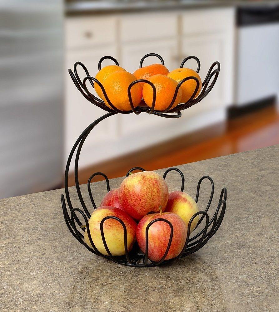 Стальная ваза для фруктов