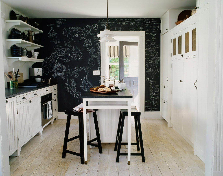 Стена с меловым покрытием на кухне