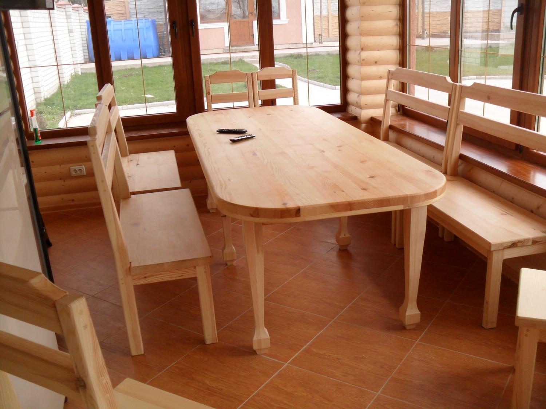 Стол и стулья для бани
