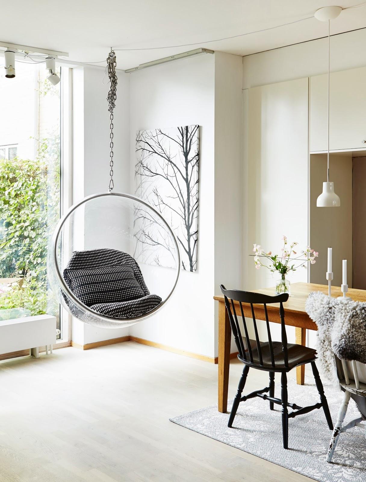 Кресло-шар в столовой