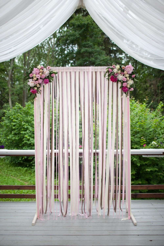 Свадебный декор из лент