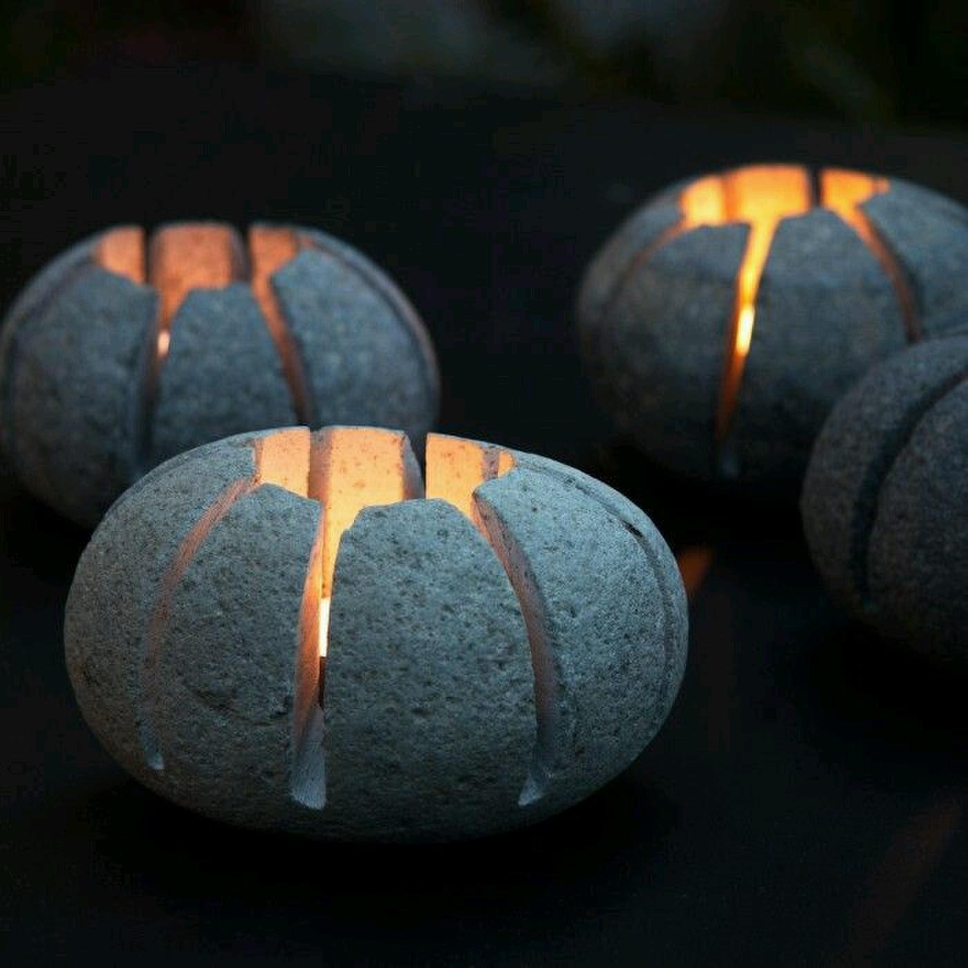 Светильники из камней