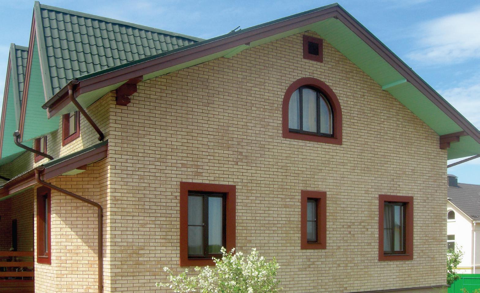 Фасадные панели под светлый кирпич