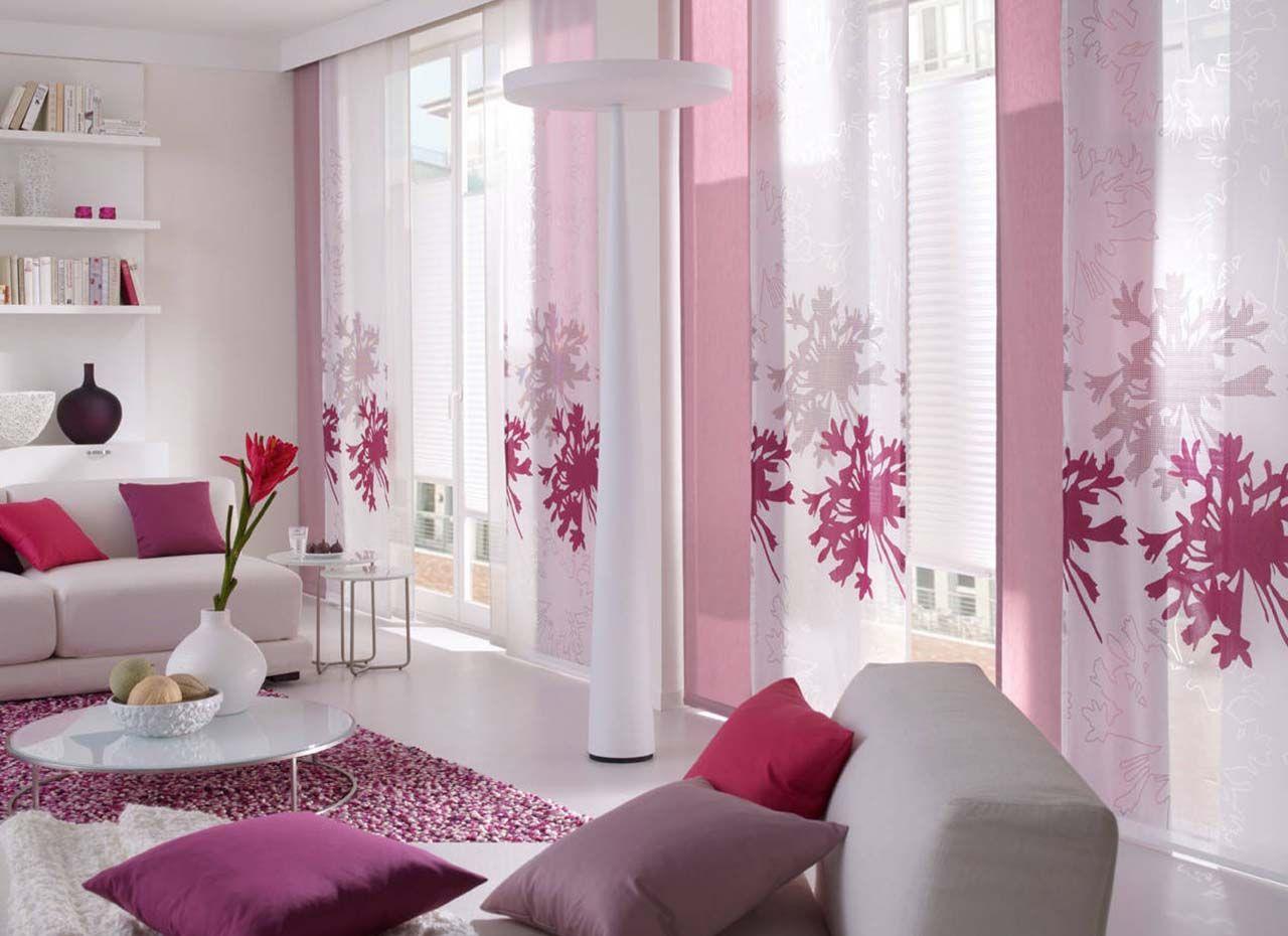Текстиль малинового цвета в интерьере