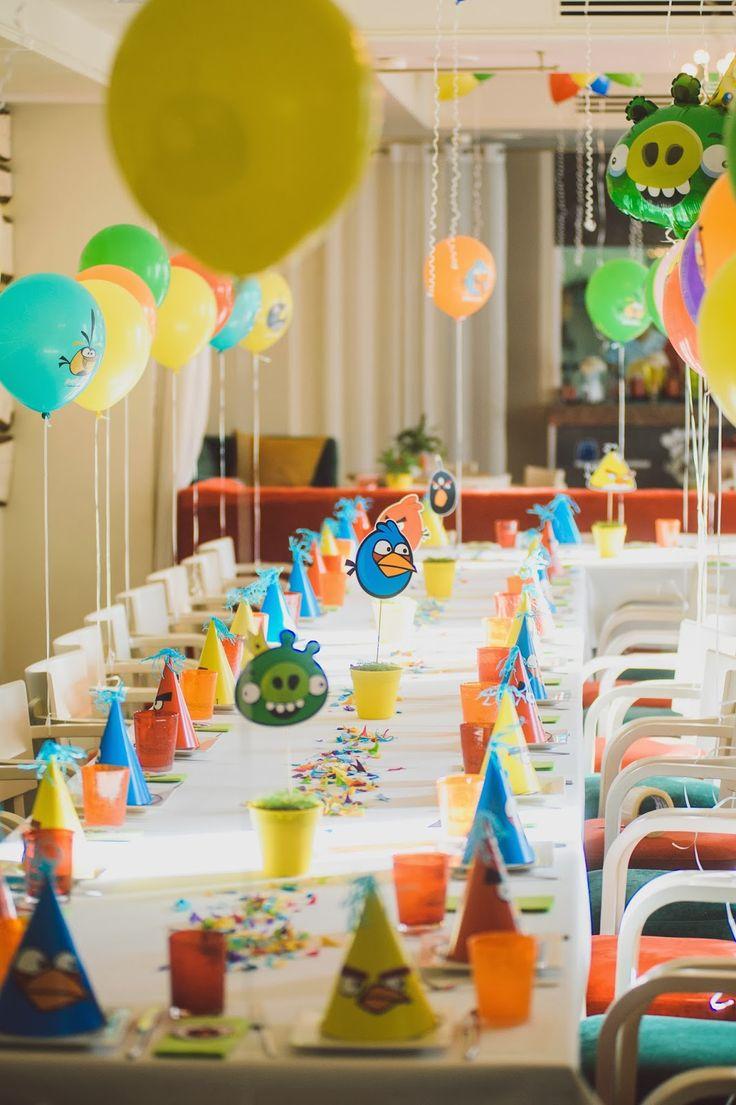 Тематическое украшение детского стола на праздник